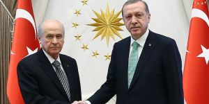 Beştepe'de Erdoğan - Bahçeli görüşmesi sona erdi