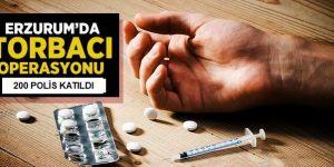 """Erzurum'da Uyuşturucu Satıcılarına """"Şafak"""" Operasyonu"""