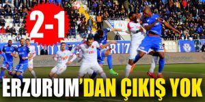 Erzurum'dan çıkış yok: 2-1