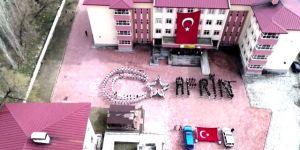 """Narman'da Öğrencilerden """"Afrin"""" Koreografisi"""