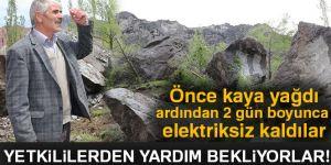 Erzurum'da Önce kaya yağdı