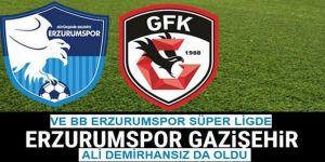 BB Erzurumspor, Spor Toto Süper Lig'e yükseldi
