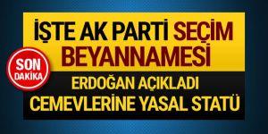 AK Parti'nin seçim beyannamesi açıklandı!