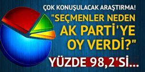 Seçmenler neden AK Parti'ye oy verdi?