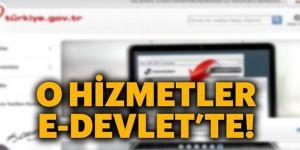 eDevlet'ten yeni hizmet duyuruları