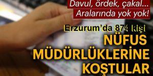 Erzurum'da 874 kişi ad ve soyadını değiştirdi