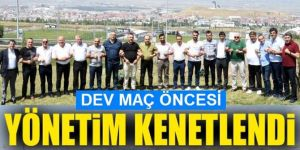 Erzurumspor yönetimi, Beşiktaş maçı öncesi kenetlendi