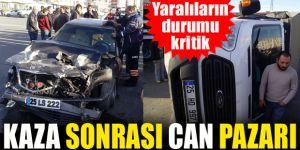 Erzurum'da Trafik kazasında can pazarı