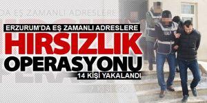 """Erzurum'da """"Hırsız Kapanı"""" Operasyonu"""
