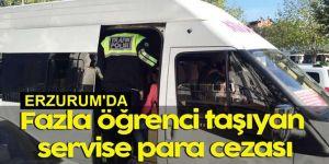 Fazla öğrenci taşıyan araç sahibi ve sürücüsüne 2 bin lira ceza
