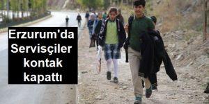 Servisçiler kontak kapattı, bin 400 öğrenci yolda kaldı