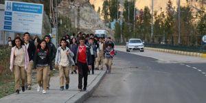Erzurum Öğrenciler Bugün de Yollardaydı
