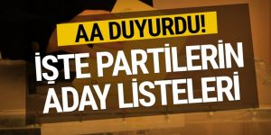 Anadolu Ajansı duyurdu! İşte partilerin 2019 aday listesi