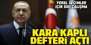 Erdoğan'dan yerel seçimler için sıkı çalışma