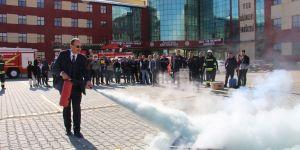 Öğrencilere yangın eğitimi verildi