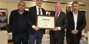 Türkiye Gazetesi'nden Başkan Sekmen'e teşekkür ziyareti