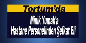 Minik Yumak'a Hastane Personelinden Şefkat Eli