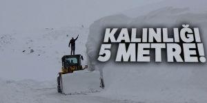 Muş'ta kar kalınlığı 5 metreyi geçti!