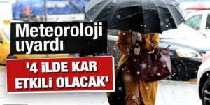 Doğu Anadolu'da 4 ilde kar yağışı etkili olacak