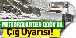 Doğu Anadolu'da kar yağışı ve çığ uyarısı