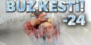 Ağrı buz kesti: Eksi 24