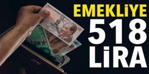 Emekliye 518 lira