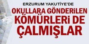 Erzurum'da Okullara gönderilen kömürleri de çalmışlar