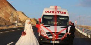 Minibüsteki aşk nikahla son buldu