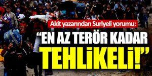 Akit yazarından Suriyeli yorumu