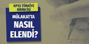 KPSS Türkiye birincisi mülakatta tüm soruları bildi yine de elendi