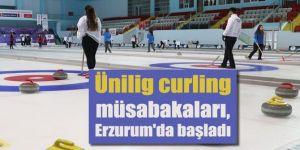 Ünilig curling müsabakaları, Erzurum'da başladı
