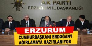 Erzurum Cumhurbaşkanı Erdoğan'ı ağırlamaya hazırlanıyor