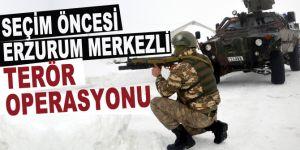 Seçim öncesi Erzurum merkezli terör operasyonu