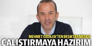 Mehmet Özdilek: Beşiktaş'ı çalıştırmaya hazırım