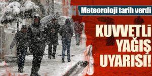Erzurum için kuvvetli kar yağışı uyarısı