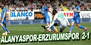Alanyaspor-Erzurumspor maç sonucu: 2-1