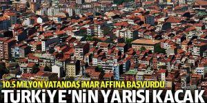 Türkiye'nin yarısı kaçak