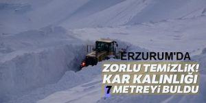 Kış mevsiminde kapanan Erzurum - Tekman yolu açılıyor