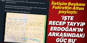 Cumhurbaşkanı Erdoğan'a duygu dolu mektup