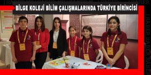 Bilge Koleji bilim çalışmalarında Türkiye birincisi