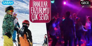 İranlı turistler nevruzu Palandöken'de geçiriyor