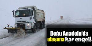 Erzurum ve Kars'ta ulaşıma kar engeli