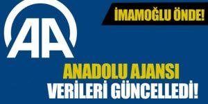 Anadolu Ajansı İstanbul verilerini güncelledi
