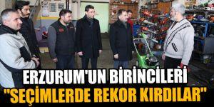 Erzurum'un birincileri