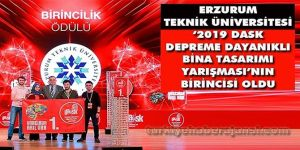 Erzurum deprem yarışmasında birinci oldu