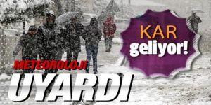 Doğu Anadolu'da 4 ilde kar yağacak