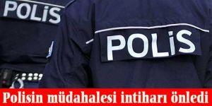 Erzurum'da Polis intiharı önledi