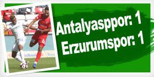 Antalyasppor: 1 - Büyükşehir Belediye Erzurumspor: 1