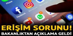 WhatsApp,Instagram ve Facebook çöktü mü? Bakanlıktan ilk açıklama
