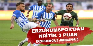 Erzurumspor'dan Kritik 3 Puan